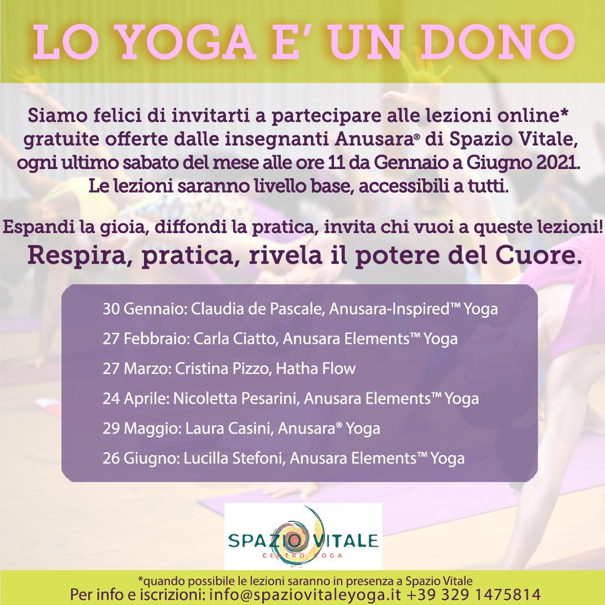 Lo Yoga è un dono