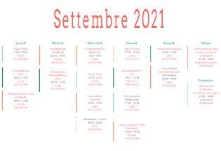 Nuovi orari e nuovi corsi a Settembre 2021